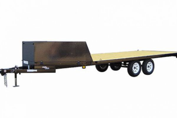 "Load Trail | Tandem Axle Utility and Tandem Axle Landscape | Model AT07 Tandem Axle Deck Over ATV 7,000 Lb w/4"" Channel Frame"