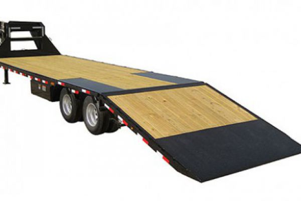 "Load Trail GR30 Gooseneck Heavy Duty w/Hyd Dove Tail 30,000 Lb & 12"" 22 Lb I-Beam Frame"