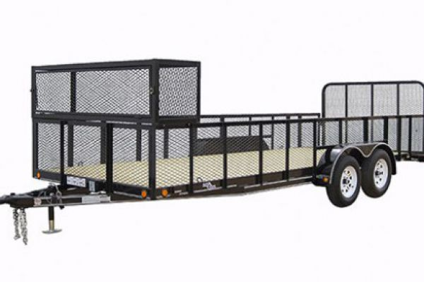 "Load Trail | Tandem Axle Utility and Tandem Axle Landscape | Model LT07 Tandem Axle Landscape 7,000 Lb w/4"" Channel Frame"