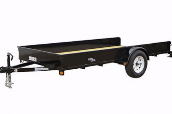 "Load Trail | Single Axle and Single Axle Landscape | Model SS03 Single Axle 2,990 Lb w/2.5"" Angle Iron Frame & Solid Sides"