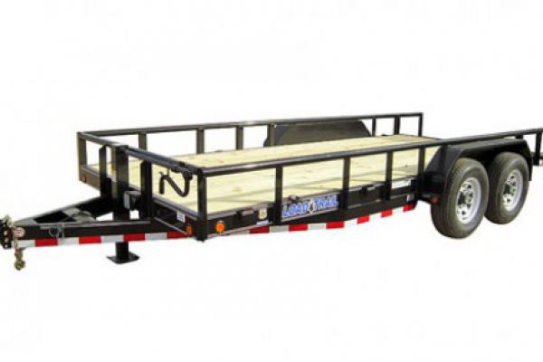 "Load Trail CS14 - Tandem Axle 14,000 lb Pipe Top Carhauler 6"" Channel Frame"