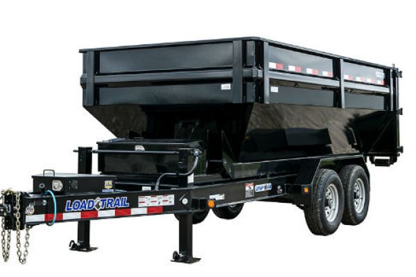 Load Trail DM14 – Tandem Axle Drop-N-Go Roll Off Dump w/8″ I-Beam Frame
