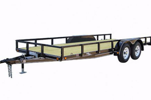 "Load Trail | Tandem Axle Utility and Tandem Axle Landscape | Model UT07 Tandem Axle Utility 7,000 Lb w/4"" Channel Frame"